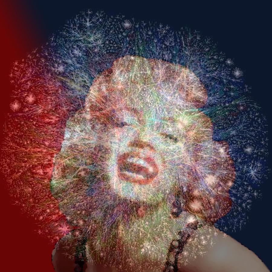 Marilyn Digital Art - Ecstasy by Nandan NAGWEKAR