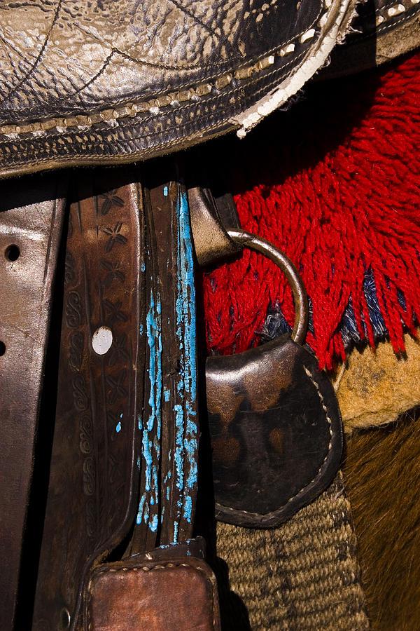 Horse Photograph - Ecuador Saddle by Chad Simcox