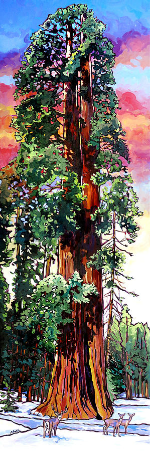 Sequoia Painting - Ed By Ned by Nadi Spencer