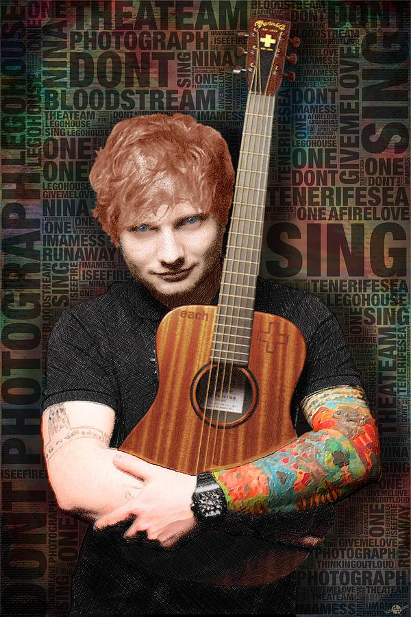 Ed Sheeran And Song Titles Painting