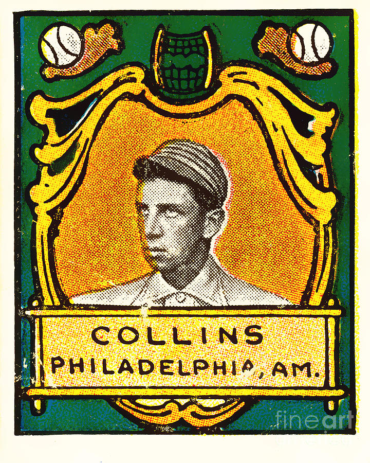 Baseball Card Photograph - Eddie Collins Philadelphia Athletics Baseball Card 1025 by Wingsdomain Art and Photography