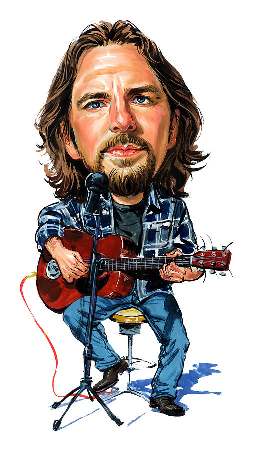 Eddie Vedder Painting - Eddie Vedder by Art