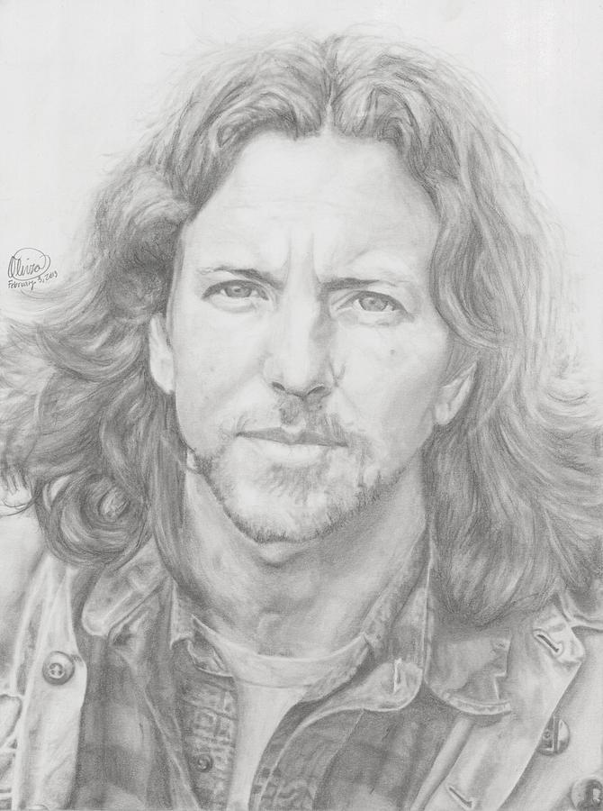 Eddie Vedder Drawing - Eddie Vedder by Olivia Schiermeyer