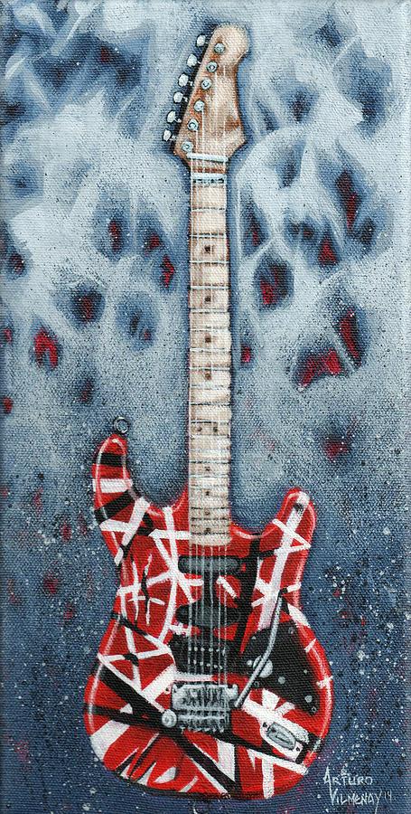 Guitar Painting - Eddies Frankenstrat by Arturo Vilmenay
