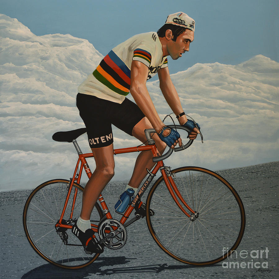 Eddy Merckx Painting - Eddy Merckx by Paul Meijering