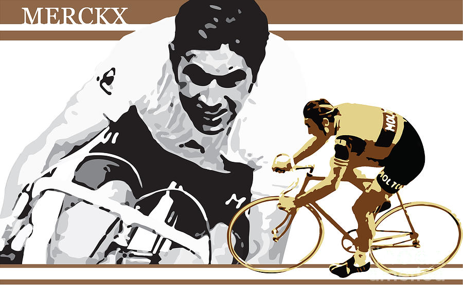 Sports Digital Art - Eddy Merckx by Sassan Filsoof