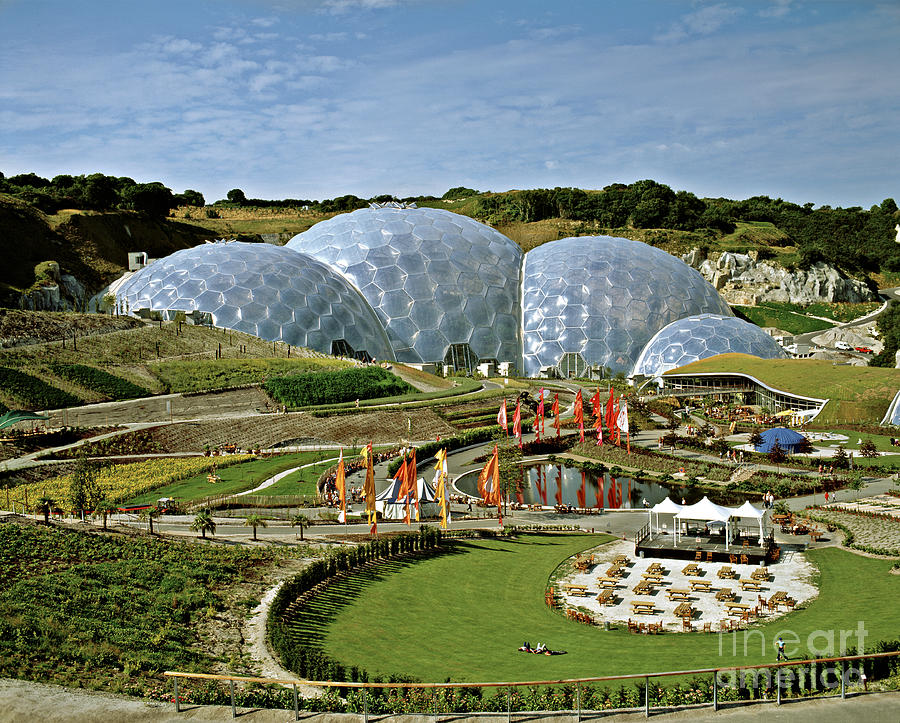 Eden Photograph - Eden Project 2002 by David Davies