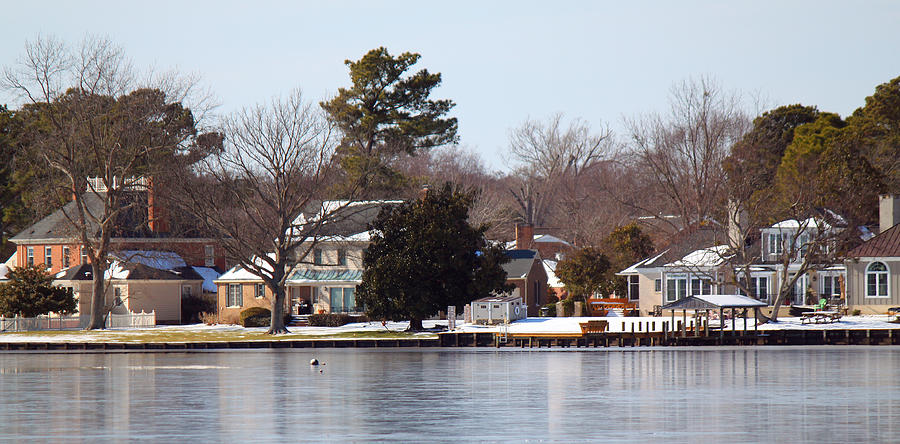 Houses Photograph - Edenton Waterfront by Carolyn Ricks
