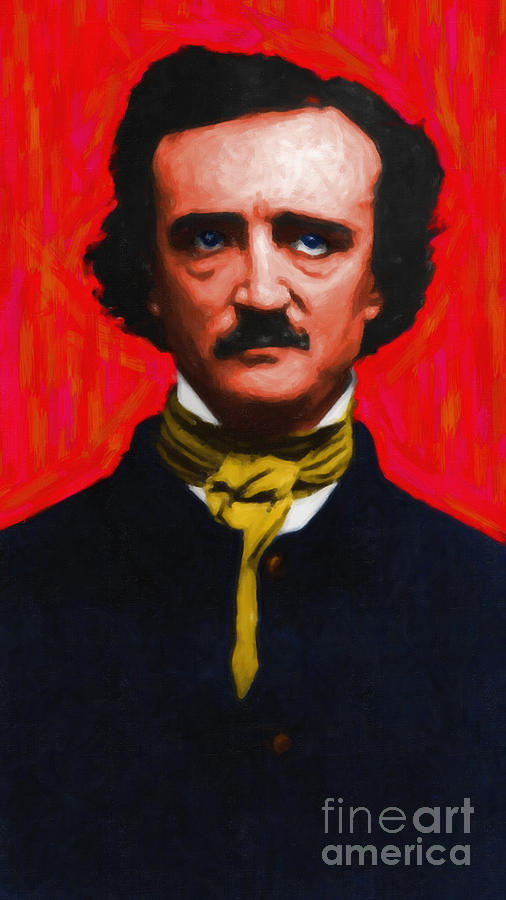 Edgar Photograph - Edgar Allan Poe - Painterly by Wingsdomain Art and Photography