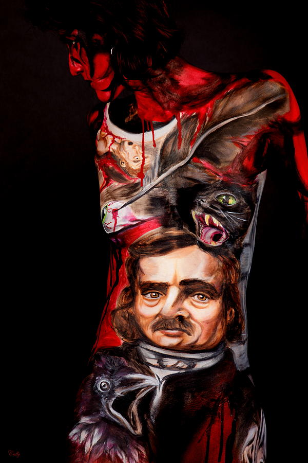 Edgar Allan Poe Photograph - Edgar Allan Poe Tribute A by Angela Rene Roberts and Cully Firmin