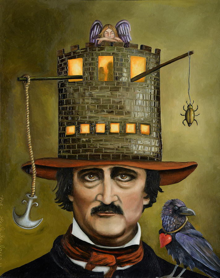 Edgar Allan Poe Painting - Edgar Allan Poe Updated Image by Leah Saulnier The Painting Maniac