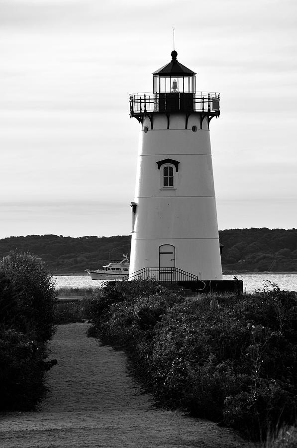Lighthouse Photograph - Edgartown Lighthouse by David Champigny