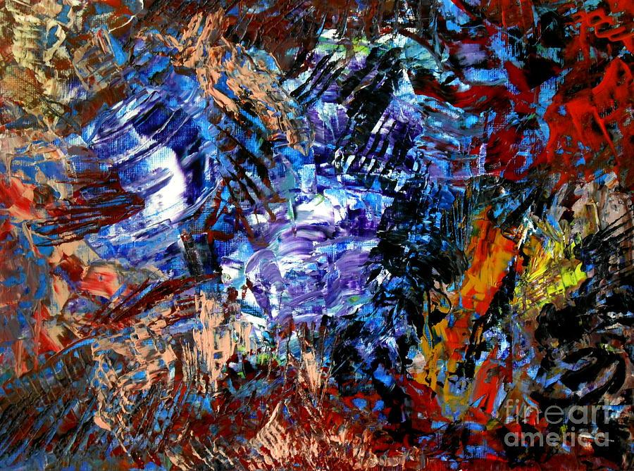 State Of Mind Painting - Edge by Danya Hammoudi