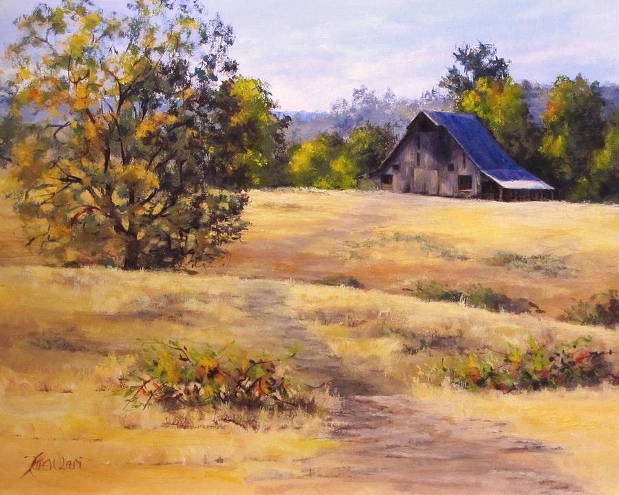 Landscape Painting - Edge of Autumn by Karen Ilari