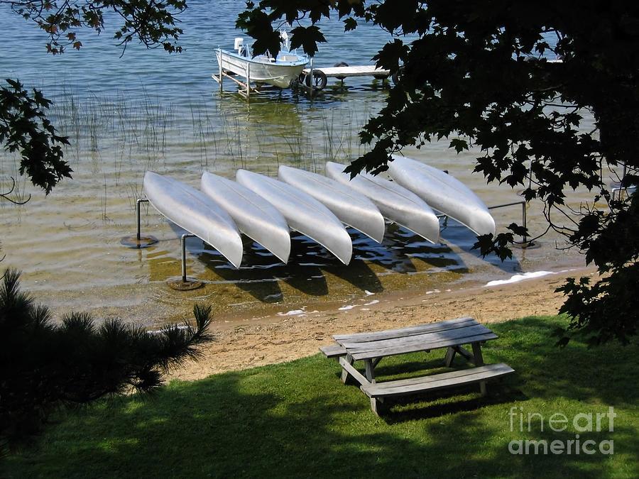 Canoe Photograph - Edge Of Summer by Ann Horn
