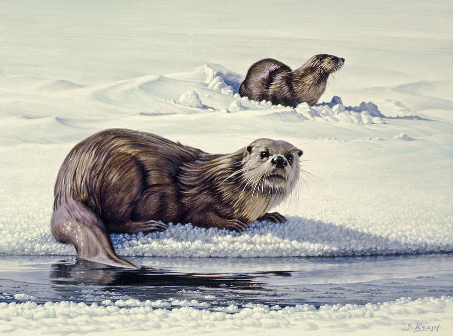 Wildlife Painting - Edge Of The Lake by Paul Krapf