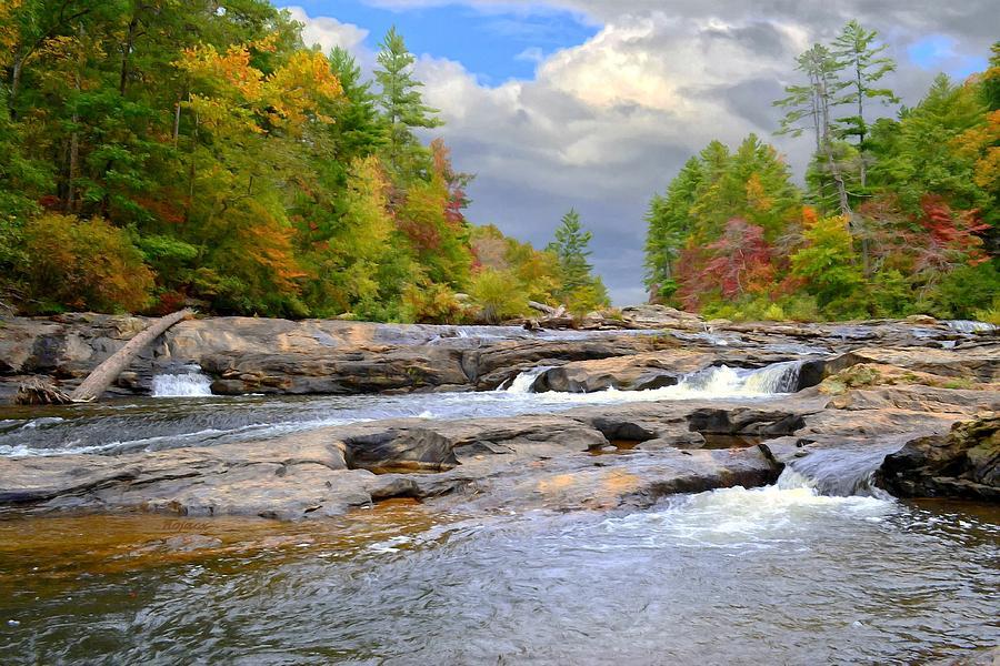Amicalola River Digital Art - Edge Of The World by Bob Jackson