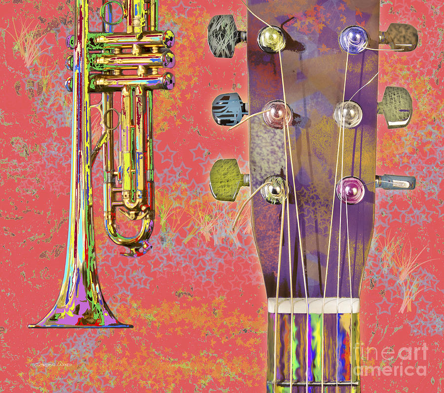Edible Instruments On A Red Background Photograph
