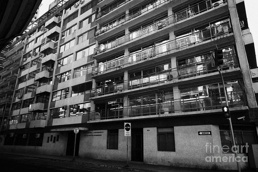 Building Photograph - edificio general norambuena mutualidad de carabineros Santiago Chile by Joe Fox