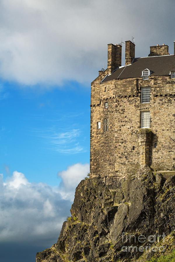 Ancient Photograph - Edinburgh Castle Detail by Jane Rix