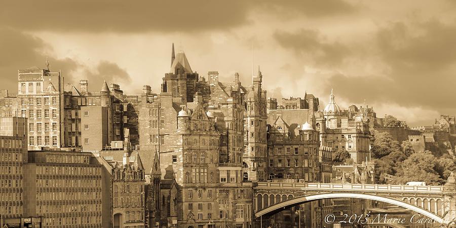 Edinburgh Scotland Photograph - Edinburgh Nostalgia by Marie  Cardona