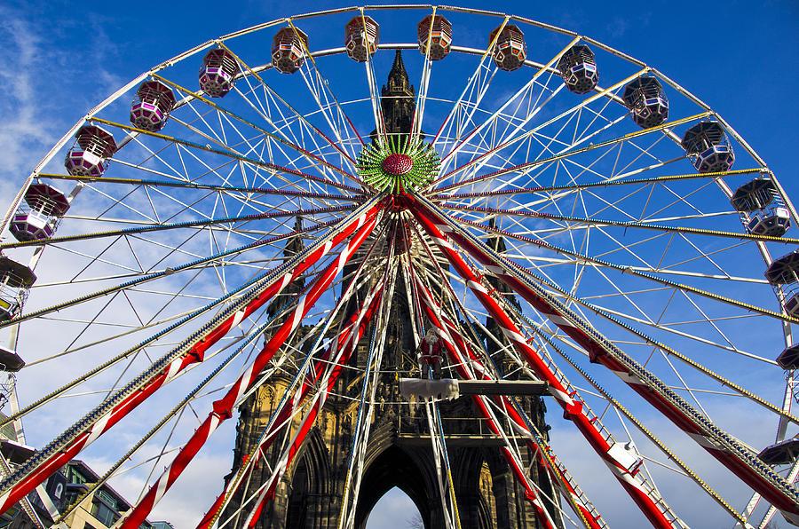Edinburgh Photograph - Edinburghs Christmas Ferris Wheel by Ross G Strachan