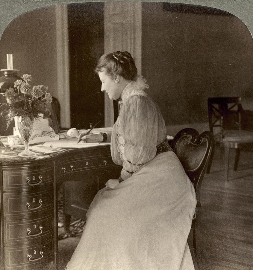 1908 Photograph - Edith Roosevelt by Granger