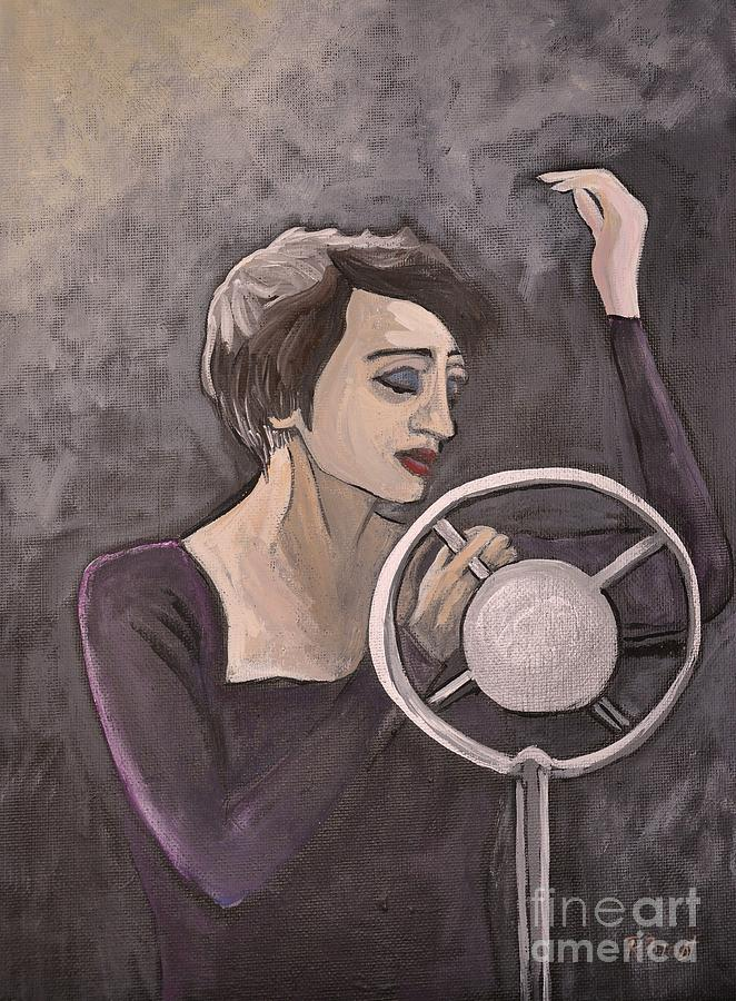 Edith Piaf Painting - Edith Piaf by Reb Frost