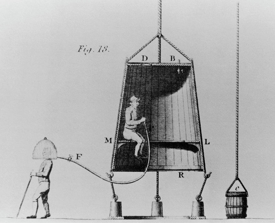Diving Bell Photograph - Edmond Halleys Diving Bell Of 1716 by Science Photo Library