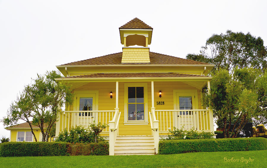 Edna Valley Yellow Winery House Photograph