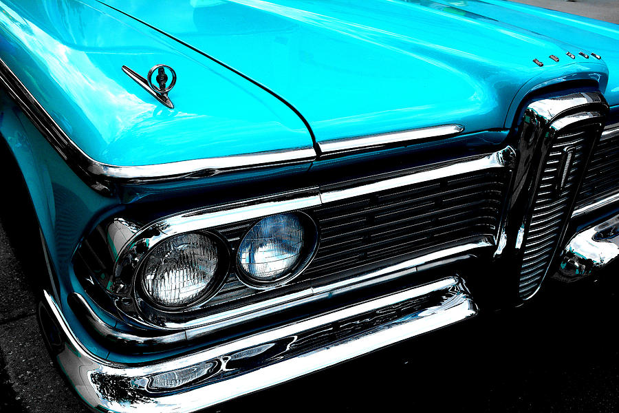 Teal Photograph - Edsel Frontal by Tim Wintjen