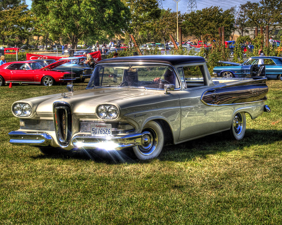 Car Photograph Edsel Ranchero By Bill Gallagher