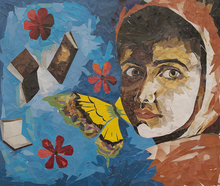 Education Is My Right Malala Yousfzai Mixed Media by Anu Edasseri