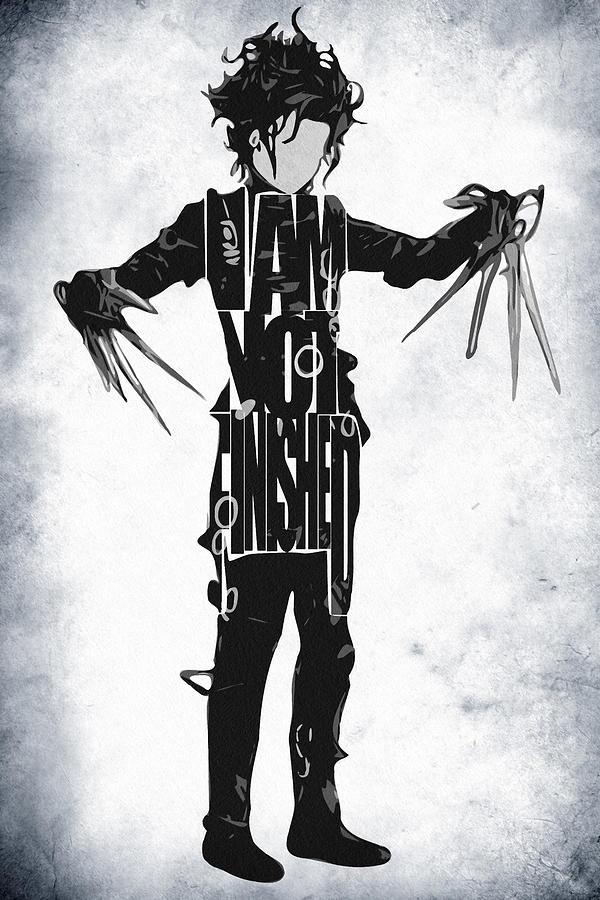Edward Scissorhands Digital Art - Edward Scissorhands - Johnny Depp by Inspirowl Design
