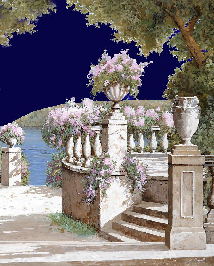 Balustrade Painting - La Balaustra Di Notte by Guido Borelli