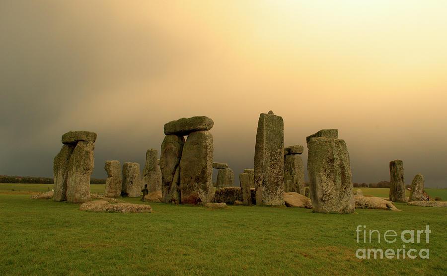 England Photograph - Eerie Stonehenge by Deborah Smolinske