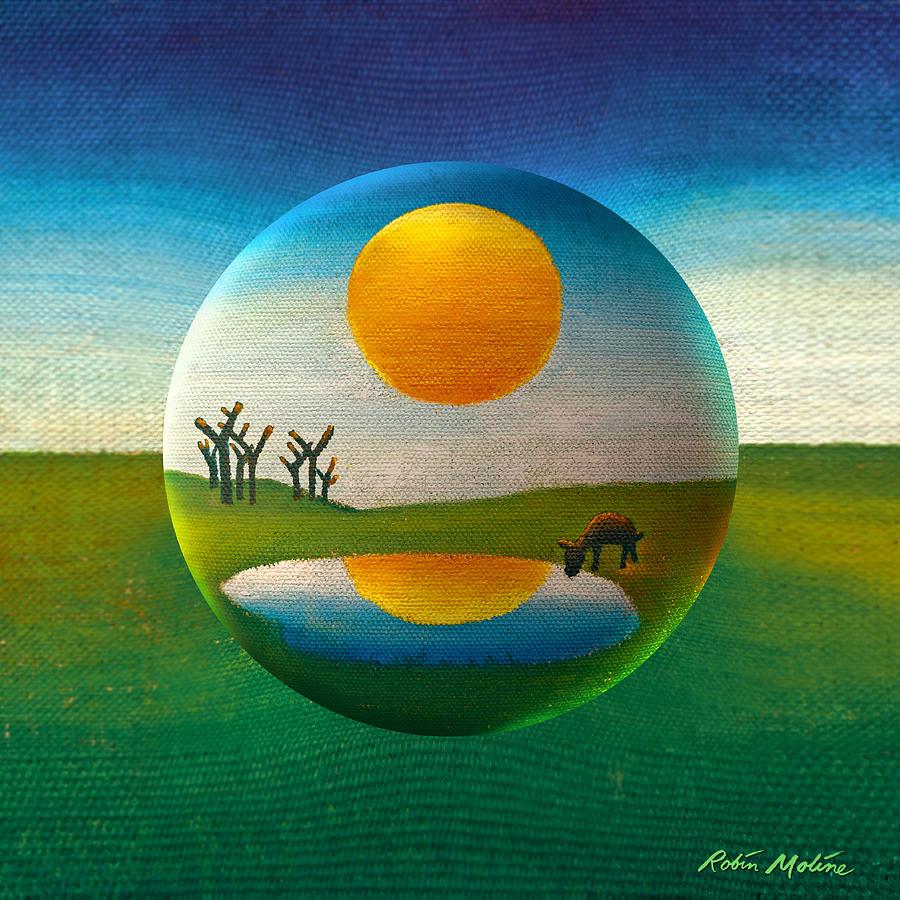 Orb Painting - Eeyorb  by Robin Moline