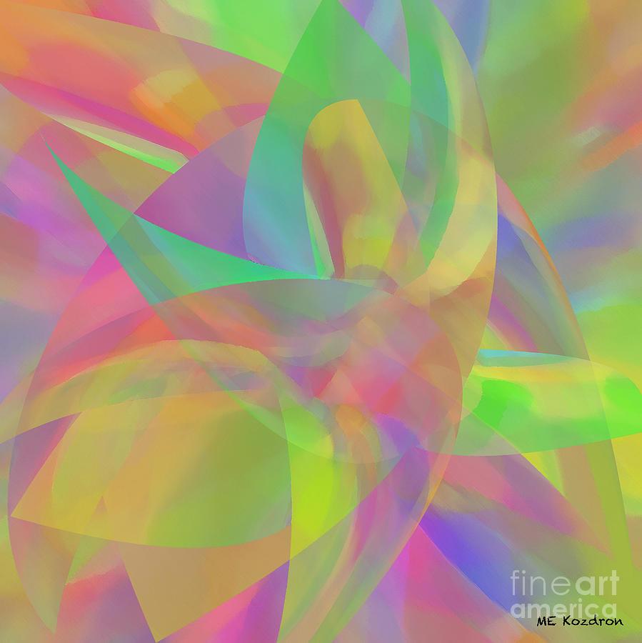 Abstract Digital Art - Effortless by ME Kozdron