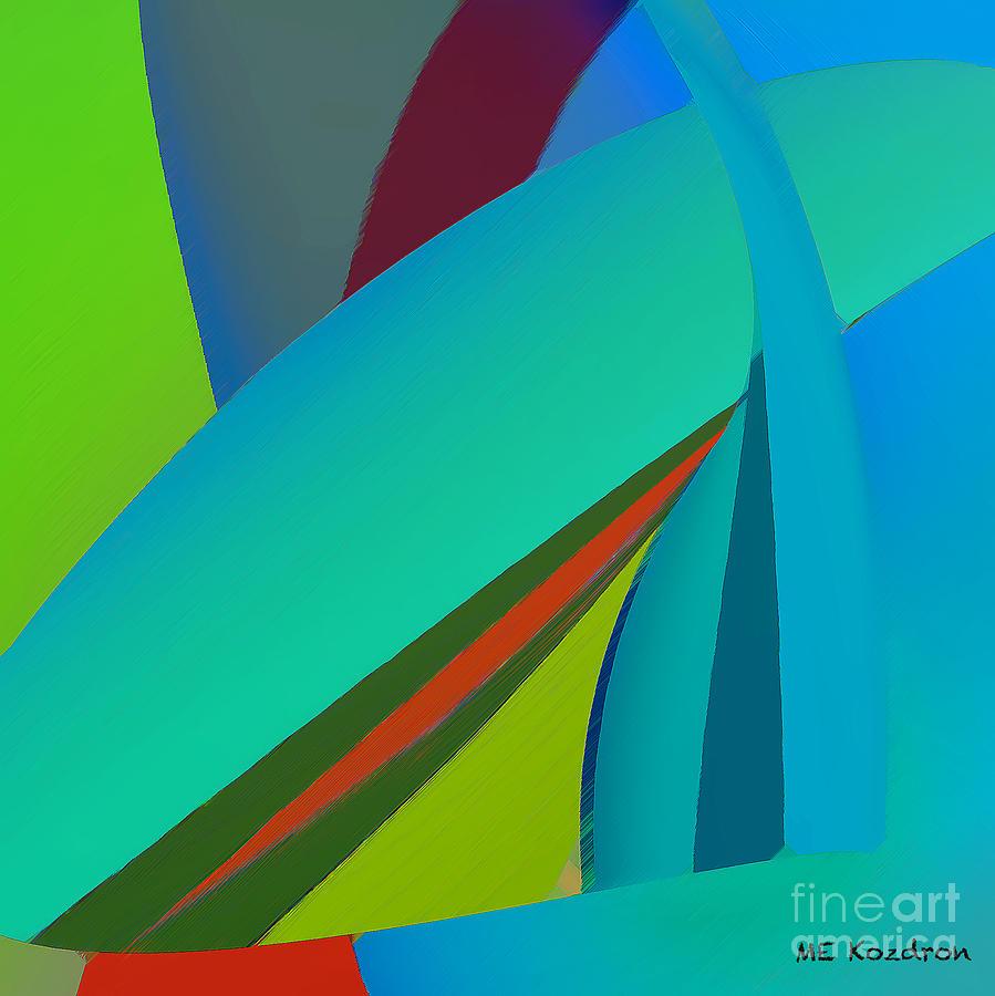 Abstract Digital Art - Effulgence by ME Kozdron