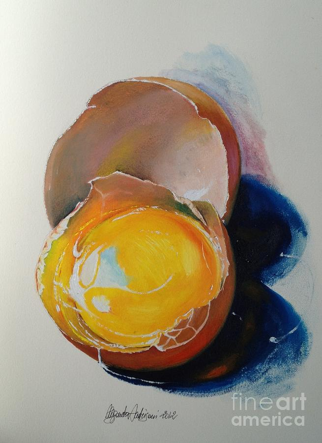 Egg Painting - Egg.. by Alessandra Andrisani