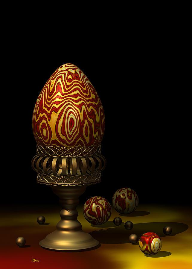 Egg And Marbles Digital Art