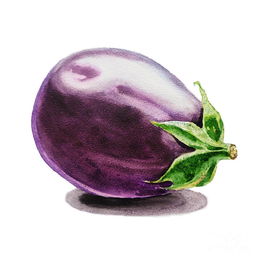 Eggplant Painting - Eggplant  by Irina Sztukowski