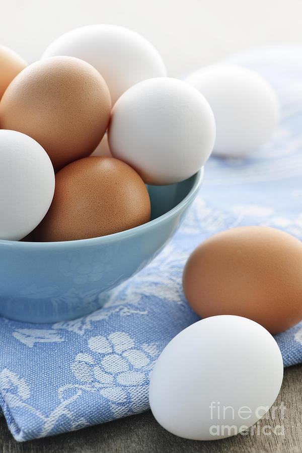 Eggs Photograph - Eggs In Bowl by Elena Elisseeva