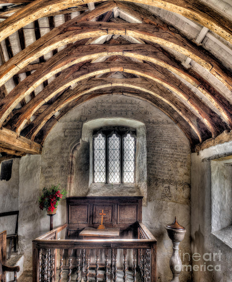 British Photograph - Eglwys Celynnin Sant by Adrian Evans