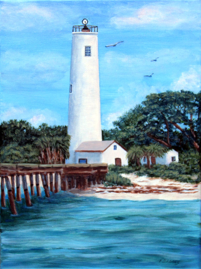 Egmont Key Lighthouse by Fran Brooks