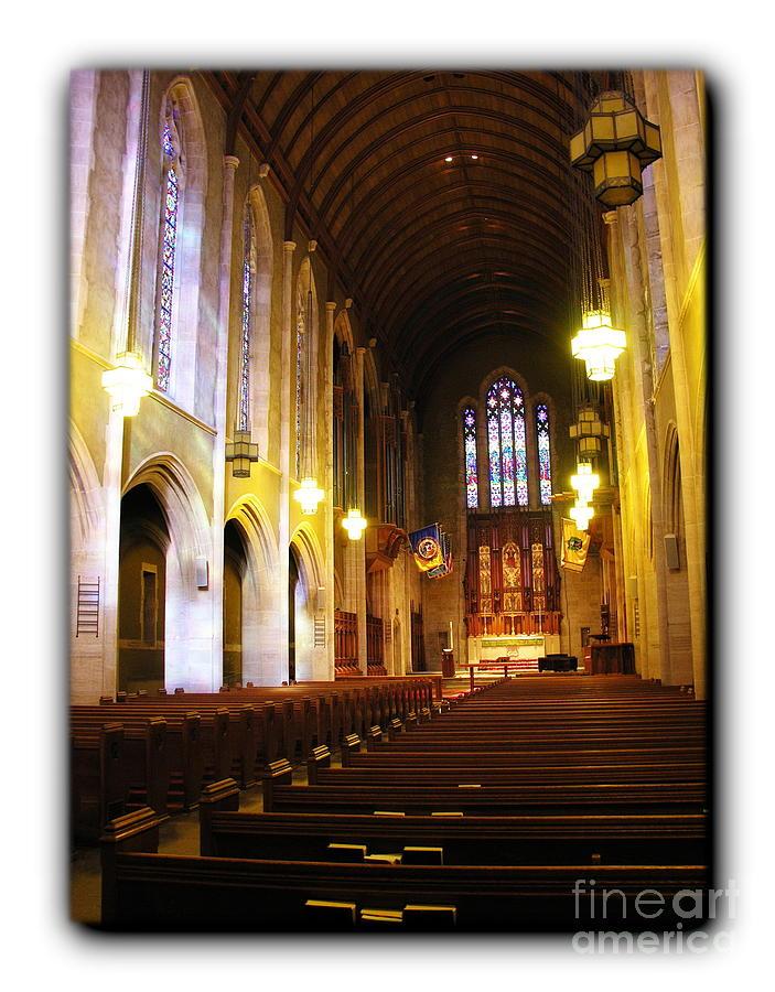 Egner Memorial Chapel Interior - Border Photograph