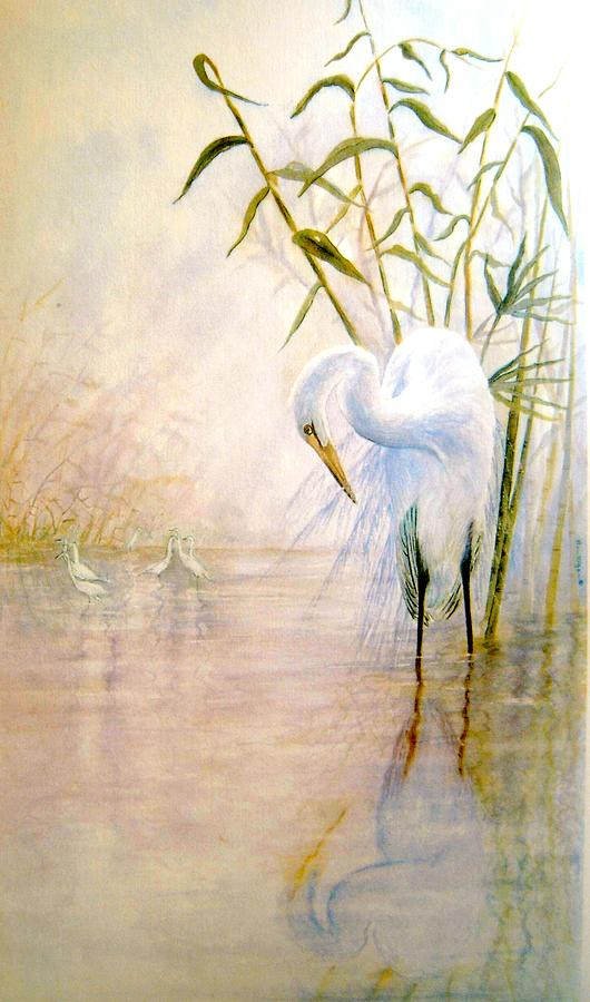 Egret Painting by Ben Kiger