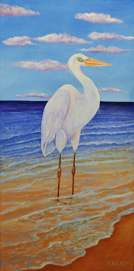 Eager Egret  by Jane Ricker