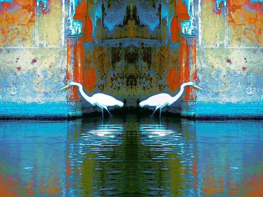 Egrets Nest in a Palace by Sue Jacobi
