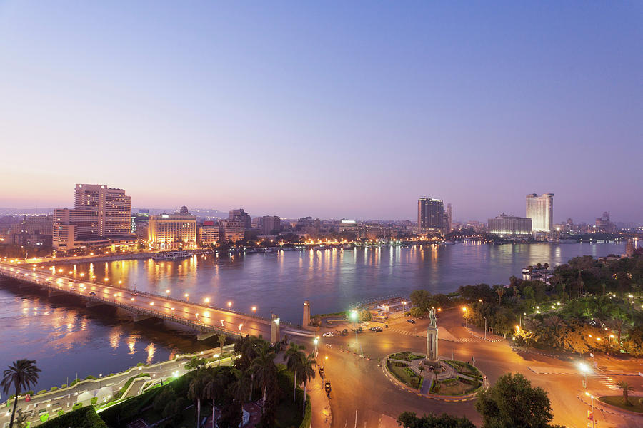 Egypt, Cairo, View Of Bridge With River Photograph by Westend61